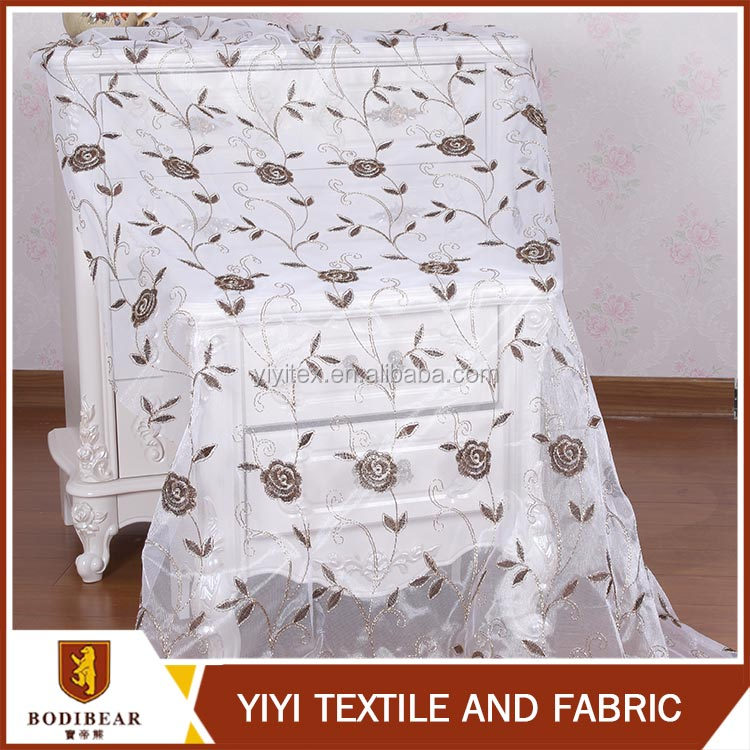 New arrival European style Fancy Polyester turkish organza curtain