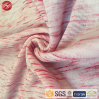 TR Polyester Viscose Knit Single Jersey Fabric Space Dye Fabric For Shirt