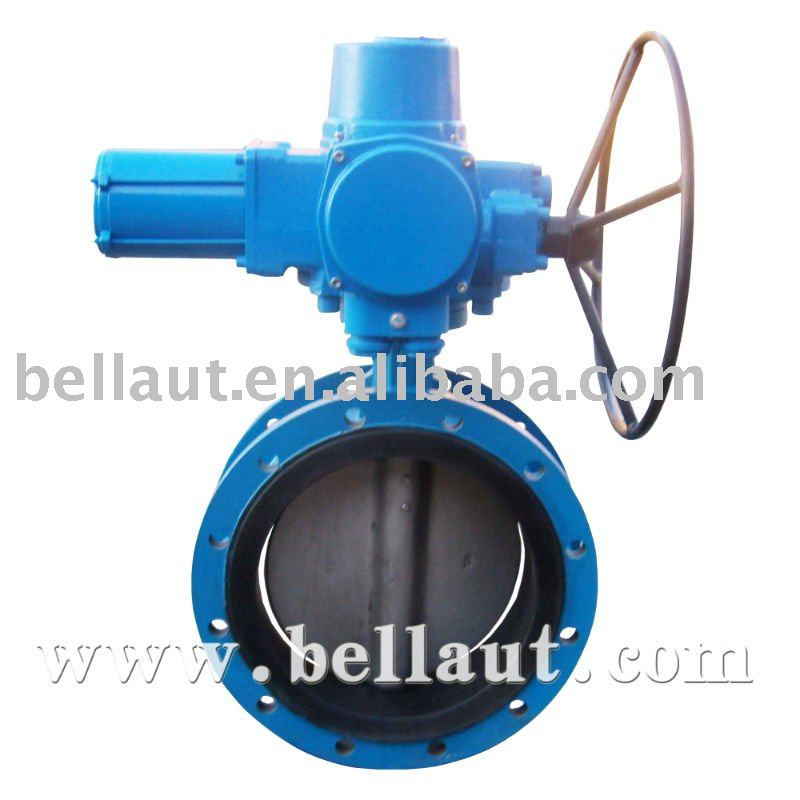 Butterfly valves with gear of various series, complete specifications, applied to automatic control industry