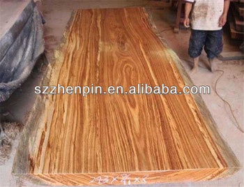 Long board natural color UV coat solid slab wood block board