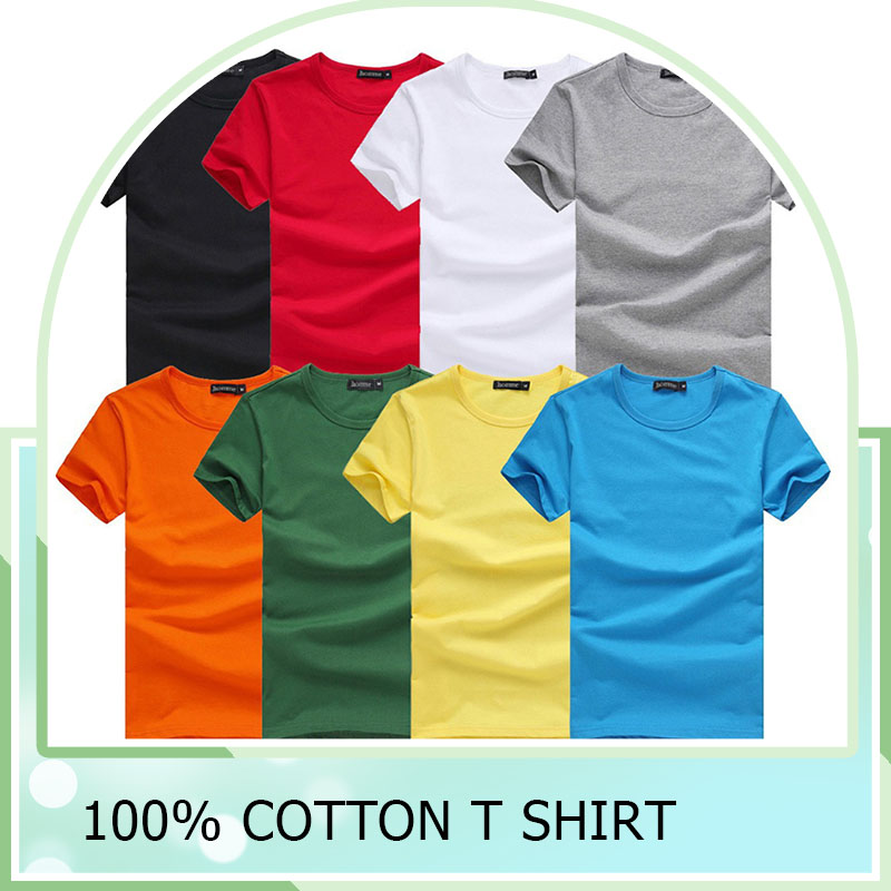wholesale high quality plain 100 cotton white t shirt 100