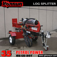 Hot selling 100L 3 position with auto-return control valve recoil garden tool 35T log wood splitter