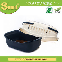 Pet travel cage plastic portable pet cages for dog