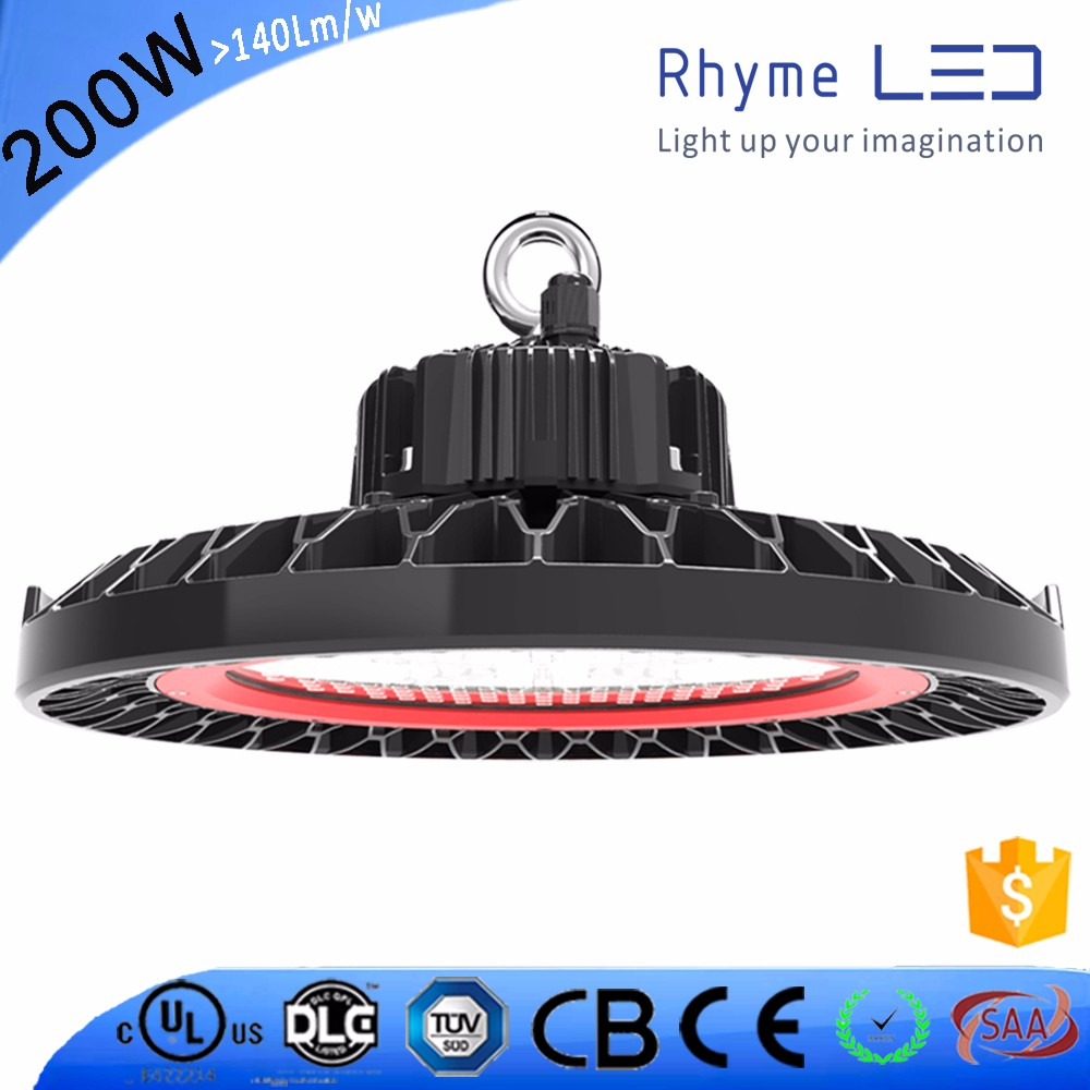 Indoor 200w UFO led high bay light,COB UFO led highbay light IP65