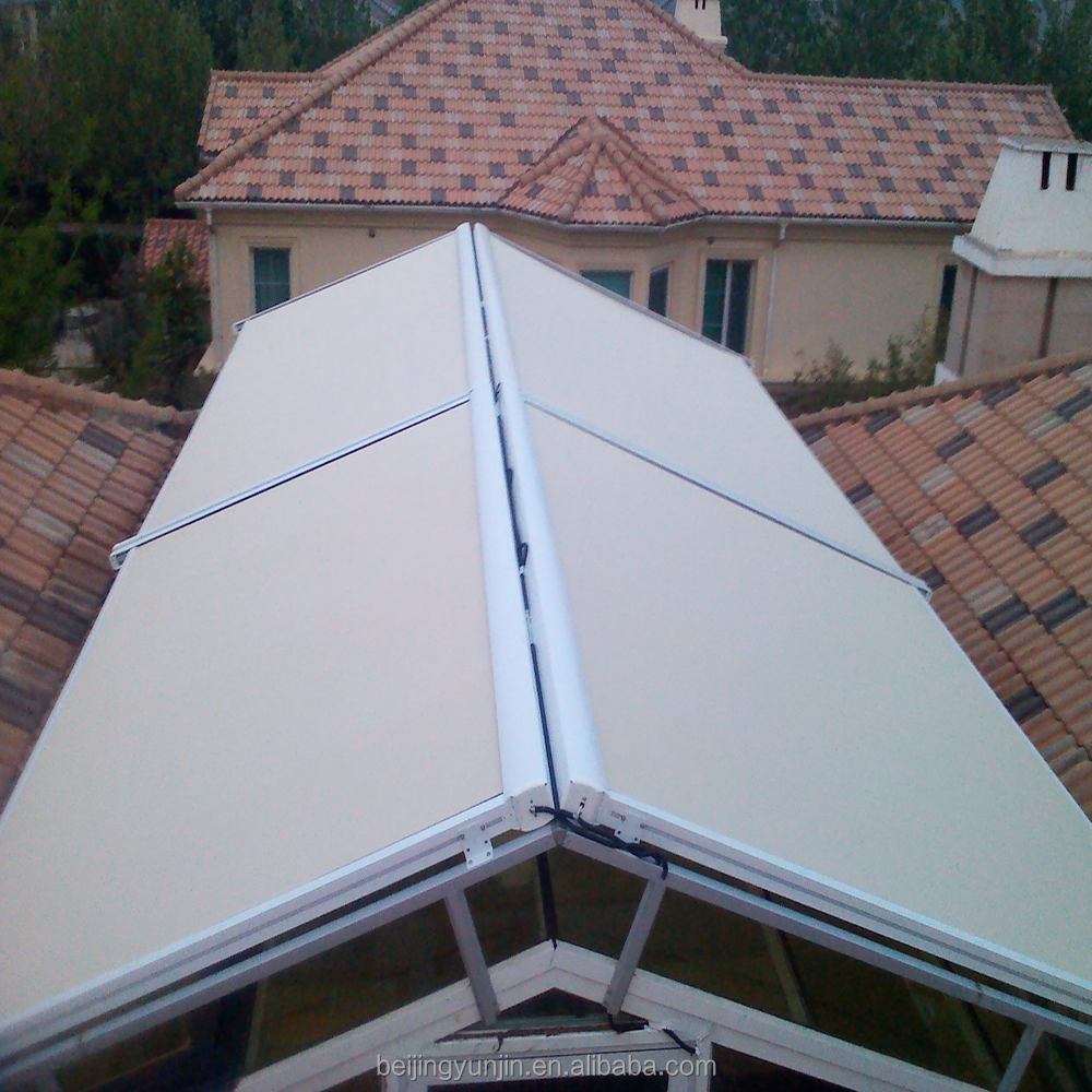 Aluminium retractable sliding roof