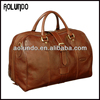 Excellent cow bulk travel tan leather bag for men genuine leather duffle bag