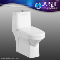 A3102 Fashion High And Western Ceramic Water Closet Modern Design Ceramic One Piece Outdoor Toilet