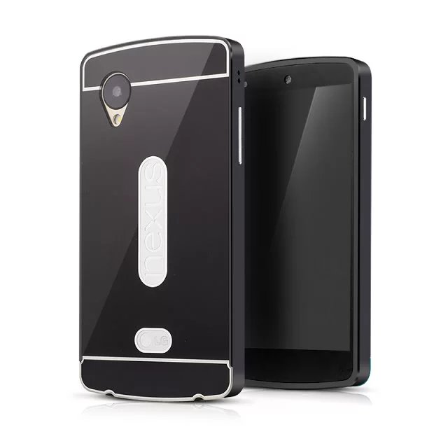 electroplating aluminium bumper metal case for lg nexus 5 anti gravity phone case