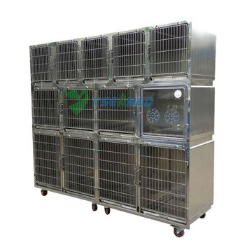 vet clinic stainless steel cage for dog