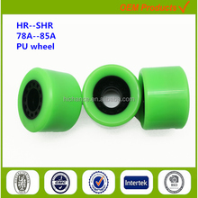 fingerboard wheels with ball bearings pu parts for skateboard