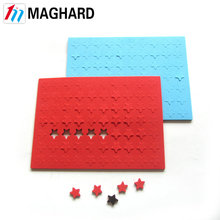 hot selling small round star Special shape coloured magnet