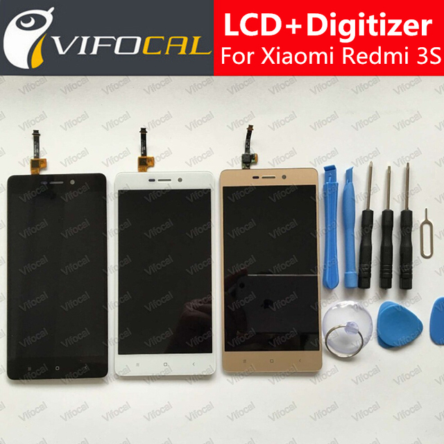 For Xiaomi Redmi 3S LCD Display + Touch Screen 100% New Digitizer Assembly Replacement For Redmi 3S Pro / Prime 3X Cell Phone