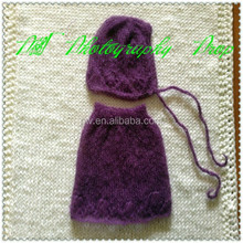 Mohair baby hat and baby girl skirt knitted baby skirt Newborn photo props