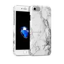 "Anti-Scratch &Fingerprint Shock Proof Ultra Thin Hard Plastic Case For iPhone 7 4.7"" inch White Marble Cover For iphone 7"