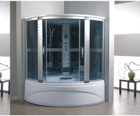 New designed computer controlled steam shower room with hydro massage tub