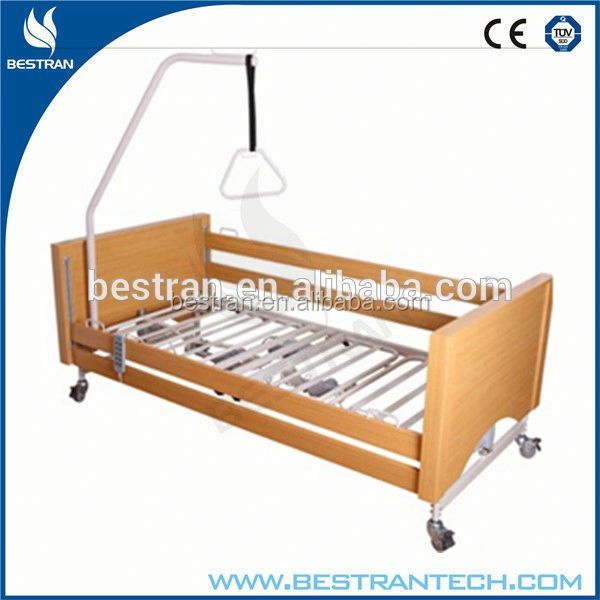 BT-AE027 High quality wooden head/foot boards 5 function luxury folding home care bed