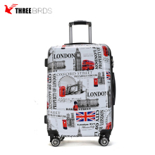 Fashion Painting Hardshell ABS and PC Luggage bags for travel
