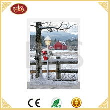 beautiful village scenery painting on canvas