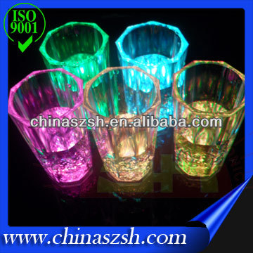 Multicolor Water Liquid Activated LED Flash Glass Cup For Party