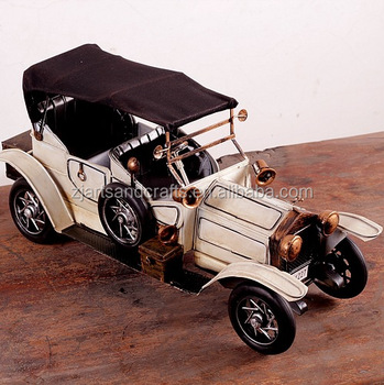 Craft gift handmade antique metal car for home decoration