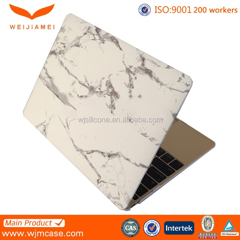 White Marble Pattern Matte Hard Cover Case for Macbook Air 11.6' Matte White Marble Print