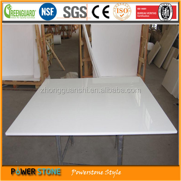 Hot Sale White Crystallized Glass Stone Flooring Tiles Price