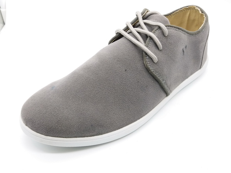Plain Grey Design Sport Outdoor Canvas Shoes Men