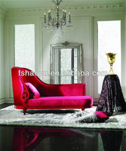 elegant chaise lounge, red color high end chaise sofa, furniture diwan