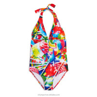 lollipop print lovely one piece kids girls swimwear & swimsuit
