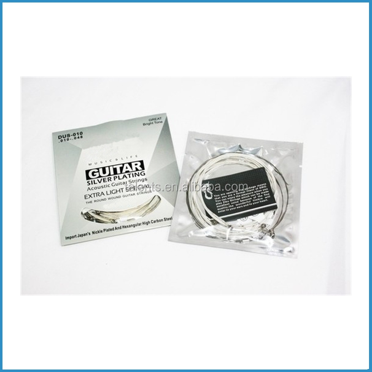 010 silver plated steel acoustic guitar strings