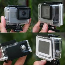 Hard Cover Full-seal Protective Transparent Waterproof Camera Case for Go pro