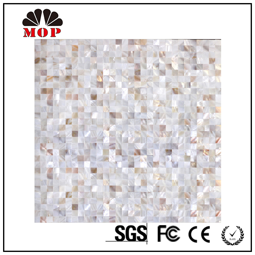 mother of pearl tv shell mosaic wall and floor tile backsplash