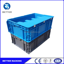 Plastic Tote Storage System, Material Handling Stackable Plastic Container