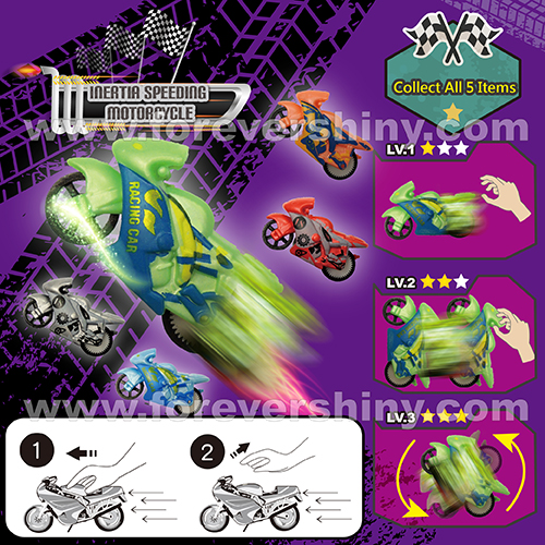 Bulk Cheap Plastic Gashapon Gift Egg Friction Inertia HIPS Race Bike Motorcycles Car Small Toy with Capsule