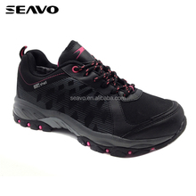 SEAVO SS18 warm and antiskid best design red women rock climbing shoes