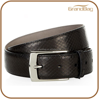 new arrival real snake skin leather belt bluck python print pure leather belt for men