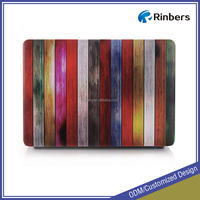 New Arrival Wood Pattern Hard Shell Plastic Case Print for MacBook Air 11.6 13.3 Pro Retina 12 13 15 Cover