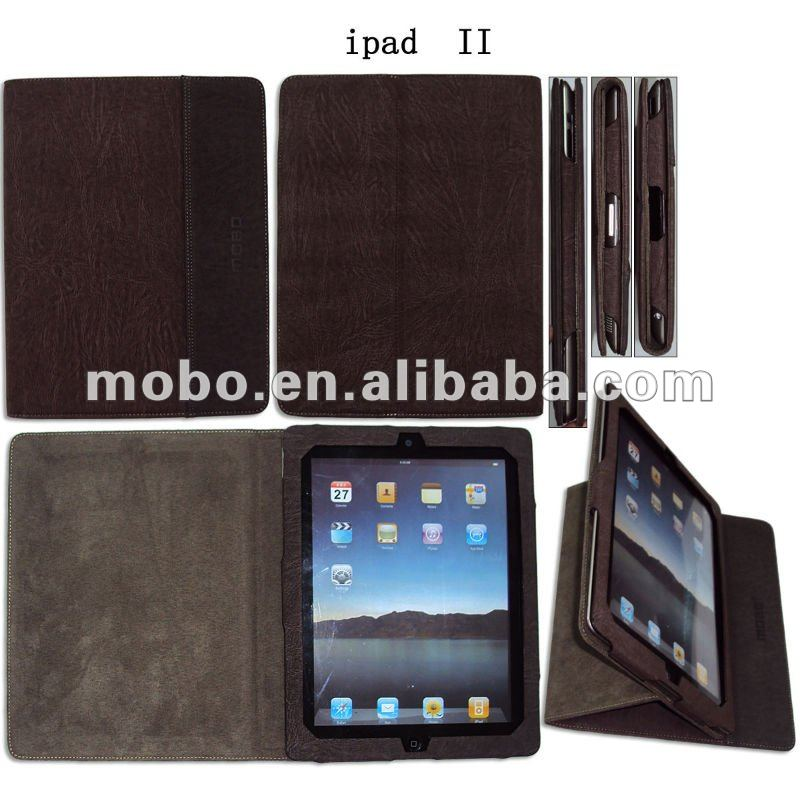Multifunctional flip leather case for iPad 2