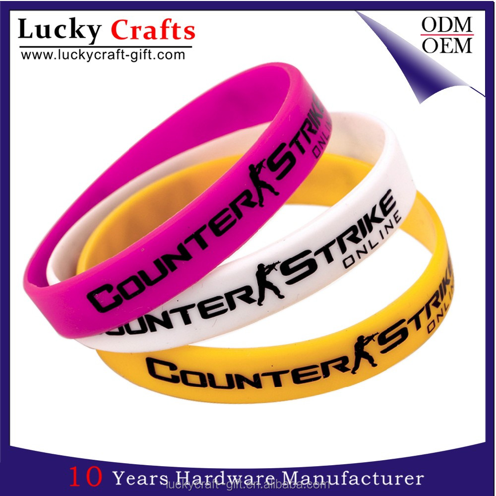 Customized free sample cool sports rubber silicone wristbands for men