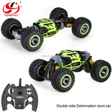 2.4Ghz 4WD Hyper Toy Vehicle Double-Sided Stunt Car rc rock crawler 1/10 Rotate Model for sale