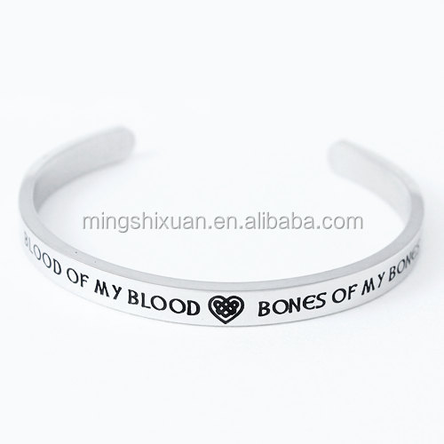 Blood of my Blood, Bones of my Bones Bracelet Stainless Steel Wedding Promise Celtic Bracelet