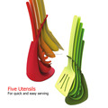 elevate 7-Piece Heat-Resistant Utensil Set with colorful handle kitchenware