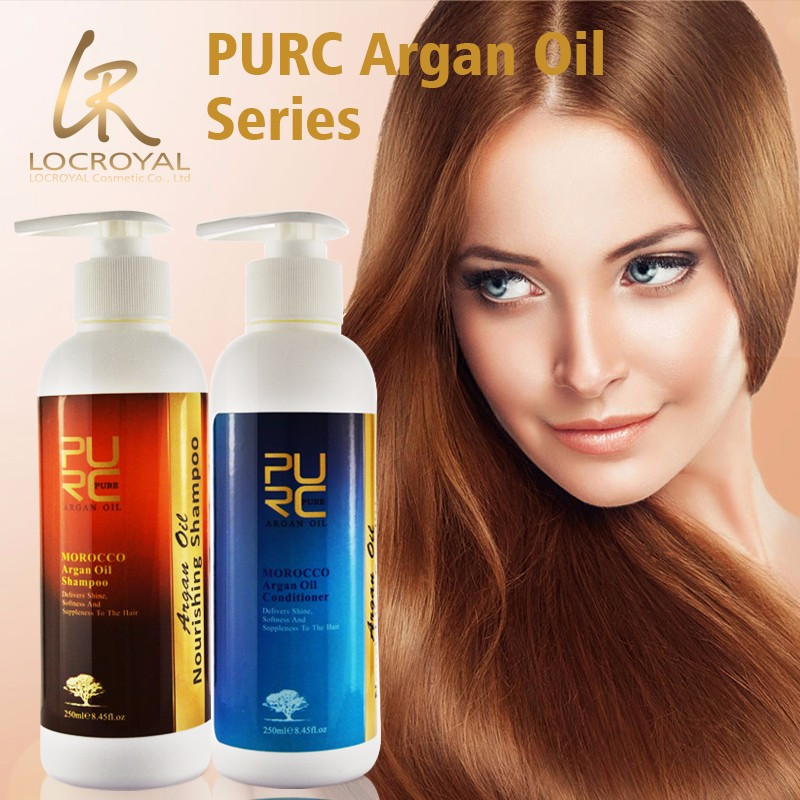 Low MOQ OEM welcome 250ml*2 Moroccan argan oil shampoo and conditioner sets