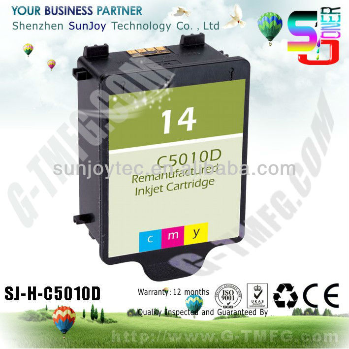 Remanufactued INK cartridge for hp 14 C5010D