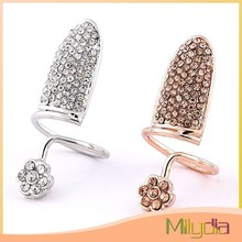 Latest design adjustable finger ring nail