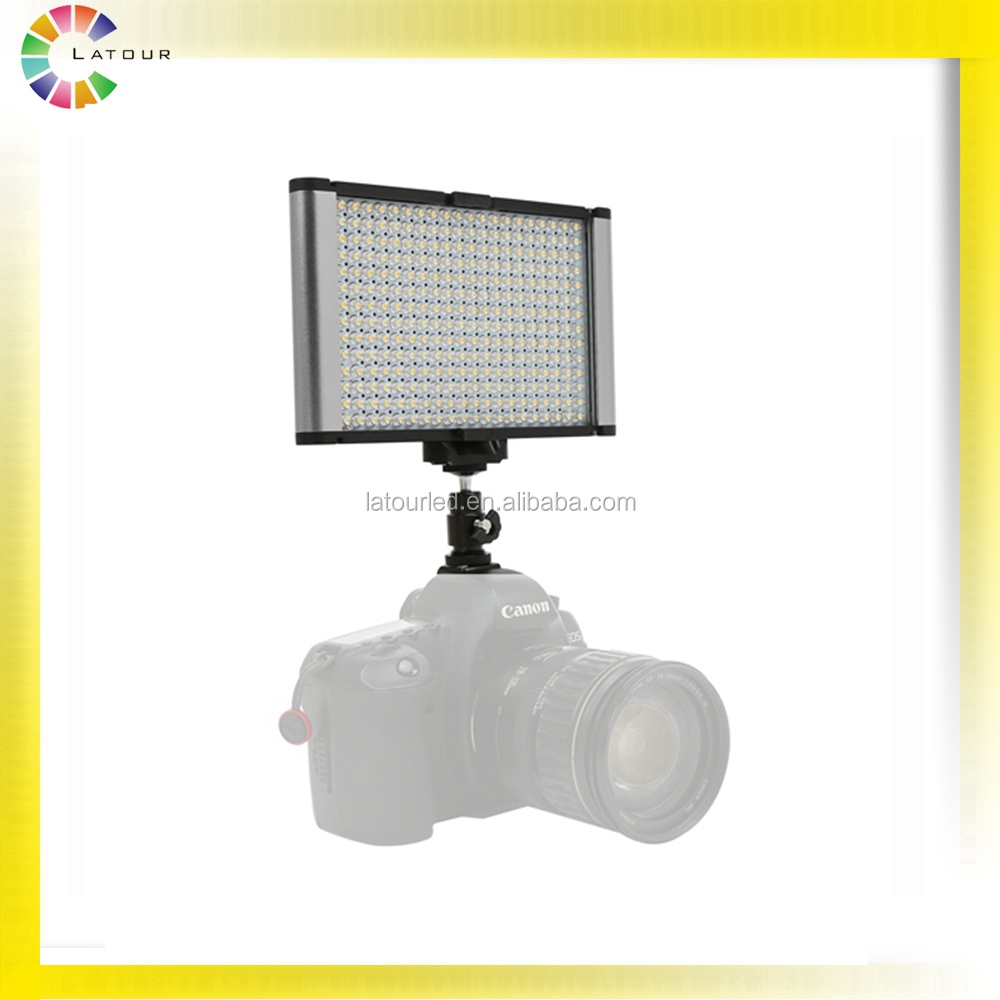 Ultra Thin Studio Bi-Color Daylight & Tungsten On-camera LED Video Light for DSLR Film Shooting