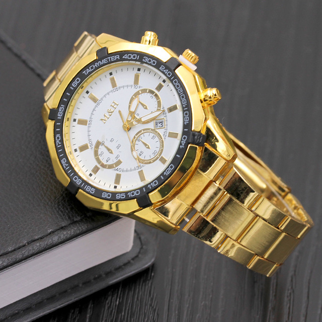 8411 Men Fashion Top Quality men watch Auto Date stainless steel watch case 316l gold man watch