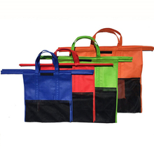 Non-woven foldable trolley shopping bag for supermarket