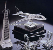 AAA quality crystal craft ,crystal building model ,crystal tower model CC-1001