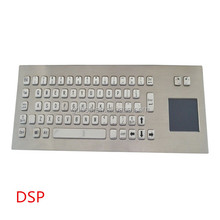 silicone industrial metal dome keyboard with touchpad